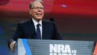 National Rifle Association Executive Vice President Wayne LaPierre speaks at the NRA Annual Meeting of Members in Indianapolis, Indiana, April 27, 2019.