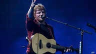 Singer Ed Sheeran performs at the Glastonbury Festival at Worthy Farm, in Somerset, England, June 25, 2017.