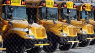 FILE - School buses are parked at the Skokie School District 68 parking lot in Skokie, Ill.