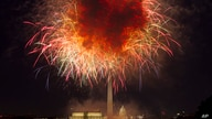 In this July 4, 2018, file photo, fireworks explode over Lincoln Memorial, Washington Monument and U.S. Capitol, along the National Mall in Washington, during the Fourth of July celebration.