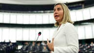 European Union foreign policy chief Federica Mogherini delivers a speech at the European Parliament in Strasbourg, France, July 16, 2019.