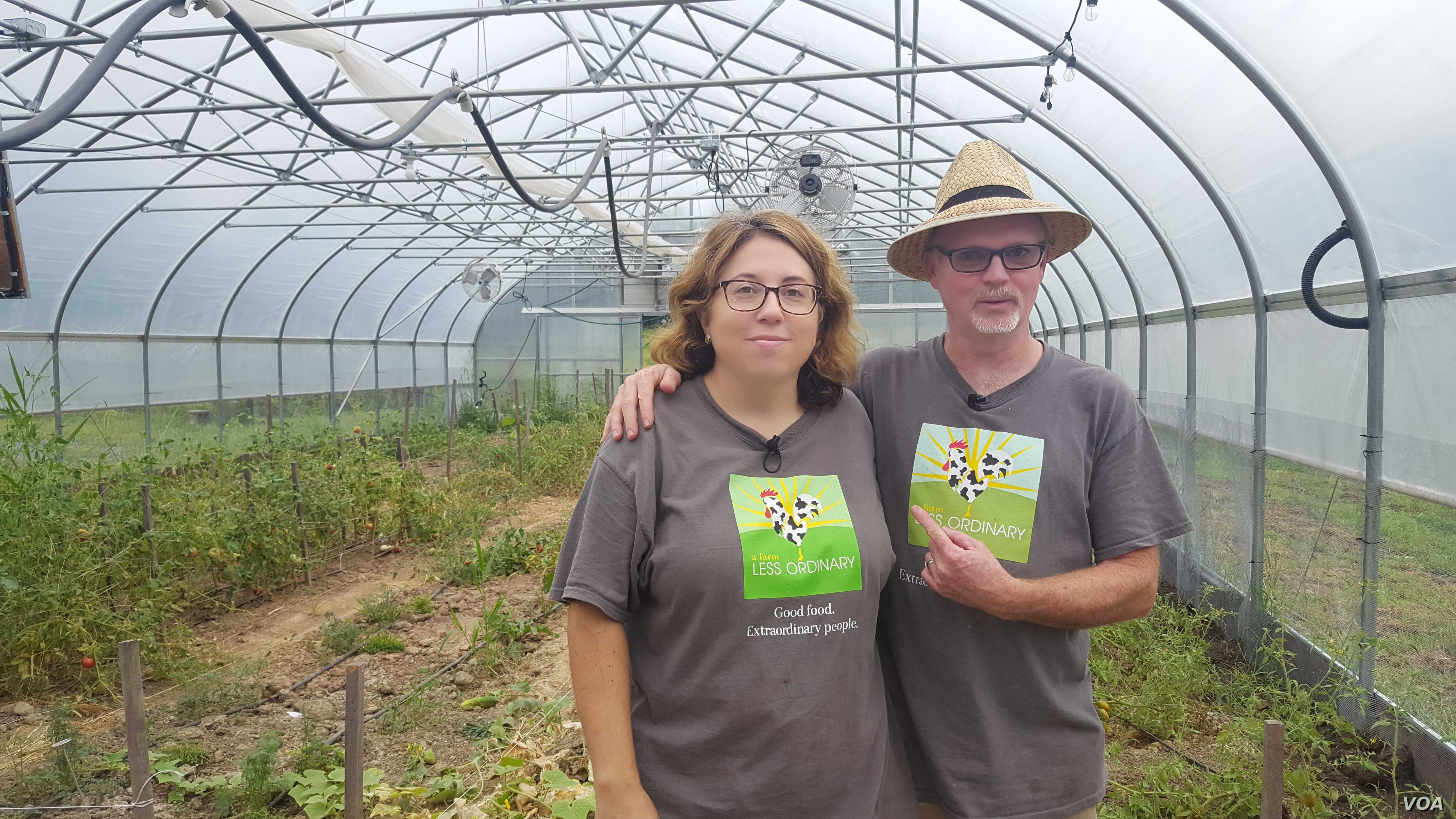 Greg Masucci and his wife, Maya Wechsler, founded A Farm Less Ordinary in Bluemont, Virginia, to teach farming skills to people with intellectual and developmental disabilities and help them earn money. (Faiza Elmasry/VOA)