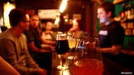A glass of beer is pictured in a craft beer bar in Kazan, Russia, June 19, 2017.  REUTERS/Maxim Shemetov - RC1FF2A27DC0