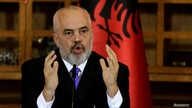 FILE PHOTO: Albanian Prime Minister Edi Rama delivers a speech during a news conference in Tirana, Albania, October 18, 2019…