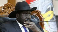 South Sudan's President Salva Kiir attends a meeting on the cutting of the number of states from 32 to 10, at the State House…