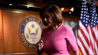 House Speaker Nancy Pelosi of Calif., walks off of the stage after speaking at a news conference on Capitol Hill in Washington