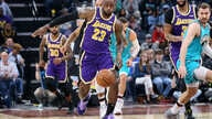 FILE PHOTO: Nov 23, 2019; Memphis, TN, USA; Los Angeles Lakers forward LeBron James (23) reaches for a loose ball as Memphis…