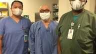 Phung Vo, left, with two co-workers at EvergreenHealth Medical Center in Kirkland, Washington. (Photo courtesy Phung Vo)