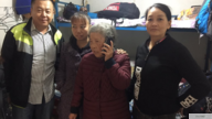 Pu Wenqing(middle) , mother of China's first cyber dissident Huang Qi, arrives in Beijing to advocate for his son in 2018
