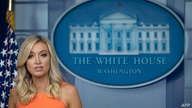 White House Press Secretary Kayleigh McEnany speaks during the press briefing at the White House in Washington, DC, on June 29,…