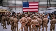 FILE - Secretary of State Mike Pompeo speaks to coalition forces at Bagram Air Base, Afghanistan, July 9, 2018.