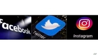 FILE - This combination of photos shows logos for social media platforms, from left, Facebook, Twitter and Instagram.