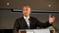 The United Nations Special Envoy to the Middle East, Nickolay Mladenov, speaks during a press conference in Jerusalem, June 25, 2020.