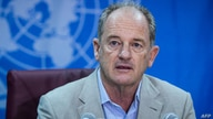 FILE - Special Representative of the secretary-general and Head of the United Nations mission in South Sudan, David Shearer, speaks during a press conference in Juba, Sept. 19, 2018, about recent progress in the peace process.