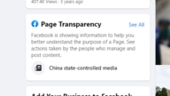 "This ""Page Transparency"" section on on Xinhua's Facebook page, notes that the agency is under Chinese state control."