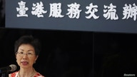 Katharine Chang, chairwoman of Taiwan?Hong Kong Economic and Cultural Co-operation Council, speaks to the media at the opening…