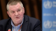 WHO Health Emergencies Programme head Michael Ryan attends a news conference organized by Geneva Association of United Nations…