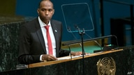 FILE - Somalia Prime Minister Hassan Ali Khayre addresses the United Nations General Assembly, Sept. 22, 2017, at U.N. headquarters.