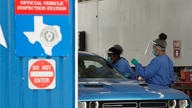 COVID-19 antibody testing and diagnostic testing are administered at a converted vehicle inspection station, Tuesday, July 7,…