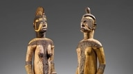 The auction of two wooden Igbo figures from Nigeria on June 29, 2020, has prompted new calls for repatriation of African artifacts. (Courtesy Christie's)