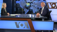 VOA contributor Greta Van Susteren, left, interviews Robert Redfield, director of the U.S. Centers for Disease Control and Preve