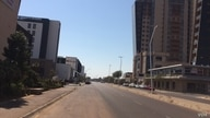 Gaborone's Central Business District is deserted as the capital returns to lockdown, in Botswana, July 31, 2020. (Mqondisi Dube/VOA)