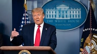 President Donald Trump speaks during a news briefing at the White House, in Washington, July 2, 2020.