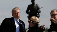 Republican U.S. presidential nominee Donald Trump (L) and campaign CEO Steve Bannon (R) listen to National Park Service…