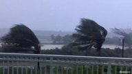 Trees are buffeted by strong winds as Hurricane Isaias hits the Bahamas July 31, 2020 in this still image taken from social…