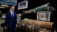 Brian Hook, Special Representative for Iran, walks past pieces of Iranian short range ballistic missiles (Qiam) at the Iranian…
