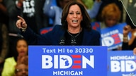 Sen. Kamala Harris, D-Calif., speaks at a campaign rally for Democratic presidential candidate former Vice President Joe Biden…