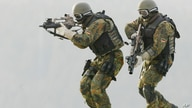 FILE  - In this Feb. 5, 2004 file photo, soldiers of (KSK) Kommando Spezialkraefte, German Bundeswehr's special forces take…