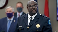 St. Louis police chief John Hayden speaks during a news conference Thursday, Aug. 6, 2020, in St. Louis. Officials announced St…