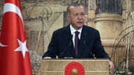 Turkey's President Recep Tayyip Erdogan speaks in Istanbul, Friday, Aug. 21, 2020. Erdogan has announced the discovery of a…