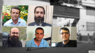 Undated images of five jailed Iranian dissidents who were informed that they tested positive for the coronavirus in Tehran's Evin prison on August 9, 2020, according to the wife of one of the activists.