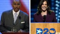 Former RNC Chairman Michael Steele (left) Democratic Vice Presidential Candidate Kamala Harris