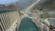 This photograph taken Oct. 31, 2017, shows a general view of the Neelum-Jhelum Hydropower Project in Nosari, in Pakistan-administered Kashmir's Neelum Valley.