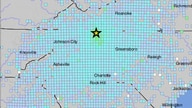 Earthquake locator map in Sparta, North Carolina, Aug. 9, 2020. (Credit: USGS)