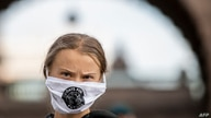 Swedish climate activist Greta Thunberg takes part in a Fridays For Future protest in front of the Swedish Parliament …