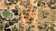 A combination photo shows dead elephants in Okavango Delta, Botswana May-June, 2020. PHOTOGRAPHS OBTAINED BY REUTERS/Handout…