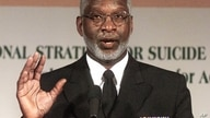 Surgeon General David Satcher meets reporters in Washington Wednesday, May 2, 2001 to unveil a national strategy for suicide…