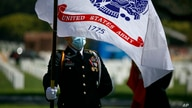 Ricardo Hernandez, a cadet from North Valley Military Institute, attends an annual Memorial Day commemoration at the Los…