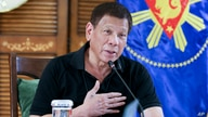 FILE - Philippine President Rodrigo Duterte attends a meeting with members of the Inter-Agency Task Force on the Emerging Infectious Diseases in Davao province, southern Philippines, Aug. 17, 2020.