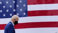 Democratic presidential candidate former Vice President Joe Biden departs after speaking at a campaign event on manufacturing…