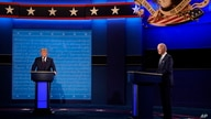 President Donald Trump and Democratic presidential candidate former Vice President Joe Biden during the first presidential debate Tuesday, Sept. 29, 2020, at Case Western University and Cleveland Clinic, in Cleveland, Ohio.