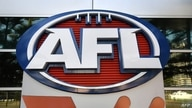 FILE -  Signage is seen outside the Australian Football League (AFL) headquarters in Melbourne, June 29, 2020.