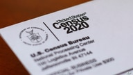 FILE - An envelope contains a 2020 census letter mailed to a U.S. resident in Detroit, Michigan, April 5, 2020.