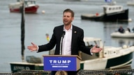 FILE - Eric Trump, son of President Donald Trump, speaks at a campaign rally in support of his father, in Saco, Maine, Sept. 17, 2020.