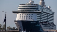 The Mein Schiff 6 cruise ship is docked at Piraeus port, near Athens, Sept. 29, 2020.