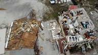 A damaged business is seen in the aftermath of Hurricane Sally, in Perdido Key, Florida, Sept. 17, 2020.